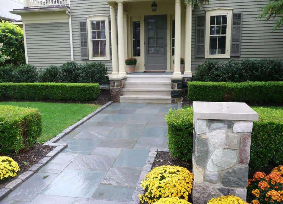 Add a beautiful walkway add style distinction and for Landscape design michigan