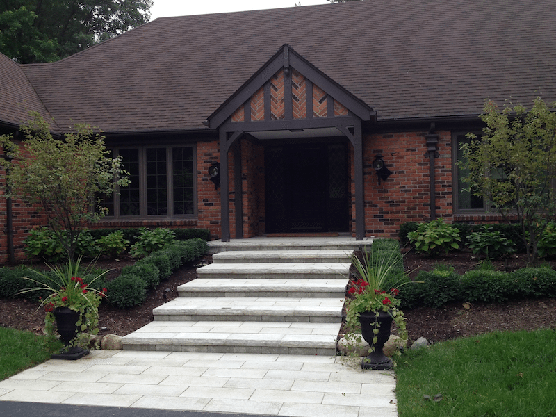 custom pavers walkway design and build