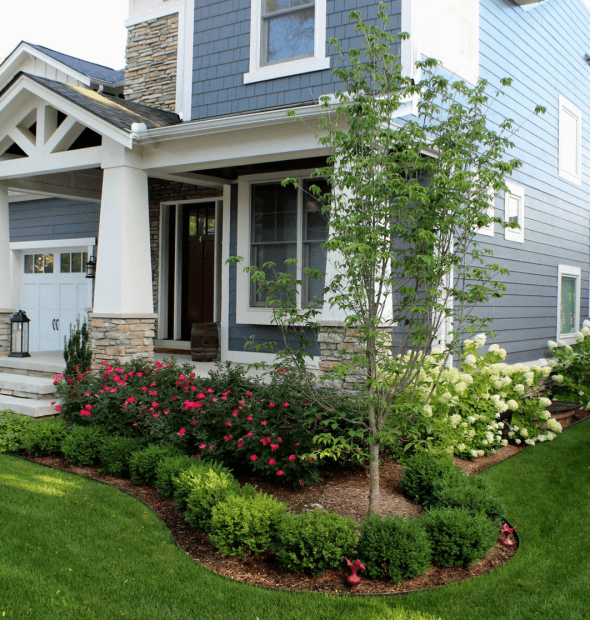 custom front yard landscaping mi