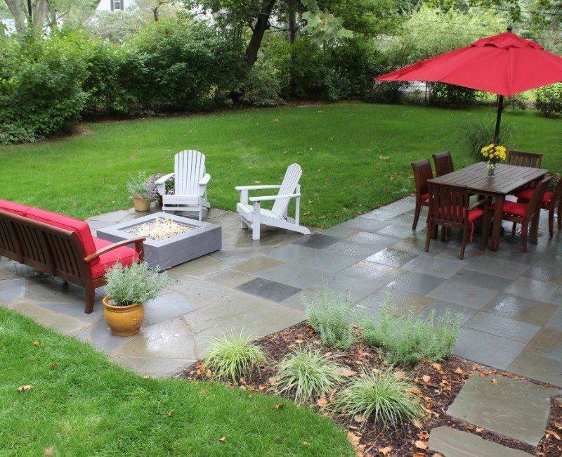 custom patio design pavers natural stone