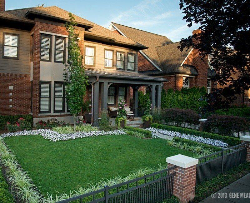 front yard custom landscape design