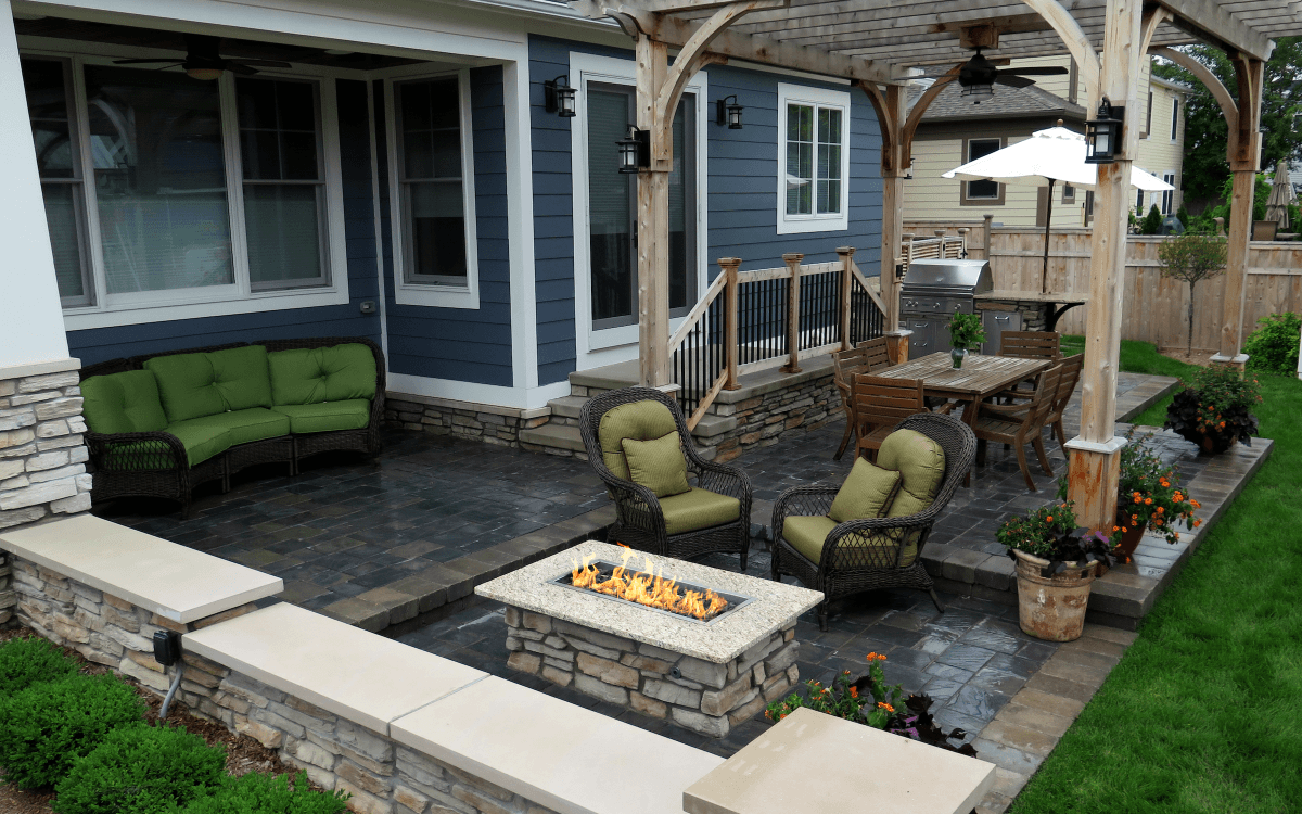 multi level outdoor living landscape design