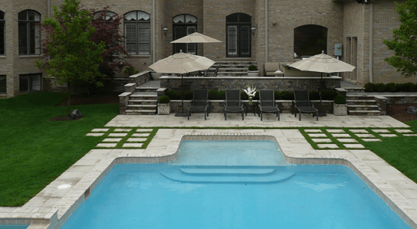 swimming pool landscape design mi