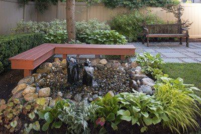 Water features can be small, yet have great sensory impact.