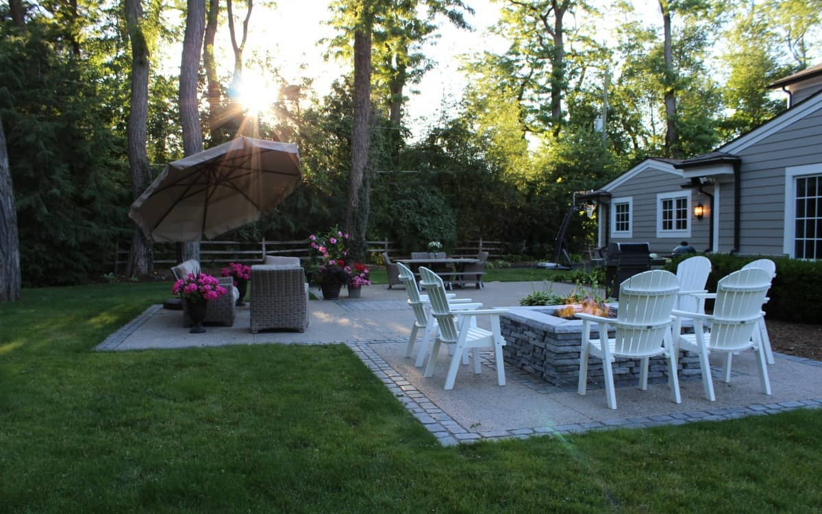 Bloomfield Hills backyard design