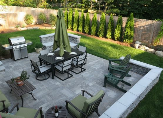 Custom Patio Design » Four Seasons Garden Center on Backyard Patio Layout id=53860