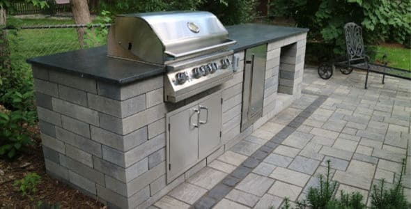 outdoor grill landscaping Michigan